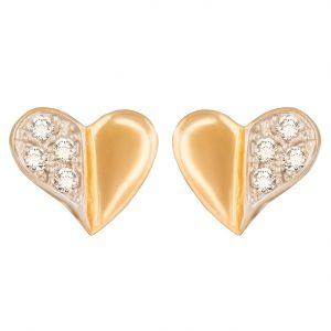 Corazón mitad con piedras