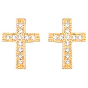 Cruz de pipos con piedras
