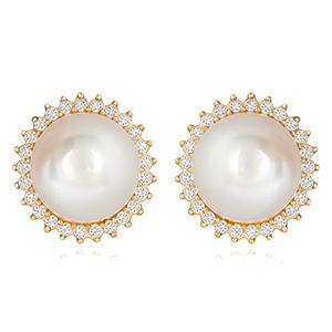 perla con bisel de piedras